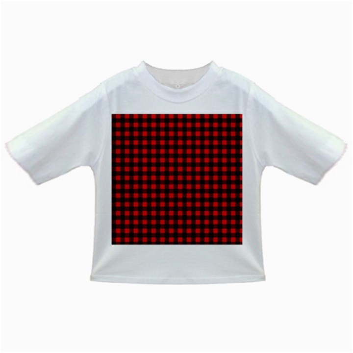 Lumberjack Plaid Fabric Pattern Red Black Infant/Toddler T-Shirts