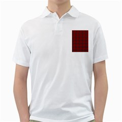 Lumberjack Plaid Fabric Pattern Red Black Golf Shirts