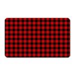 Lumberjack Plaid Fabric Pattern Red Black Magnet (Rectangular) Front