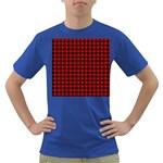 Lumberjack Plaid Fabric Pattern Red Black Dark T-Shirt