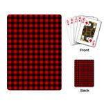 Lumberjack Plaid Fabric Pattern Red Black Playing Card Back