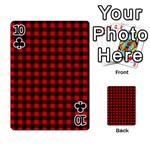 Lumberjack Plaid Fabric Pattern Red Black Playing Cards 54 Designs  Front - Club10