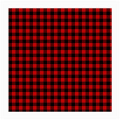 Lumberjack Plaid Fabric Pattern Red Black Medium Glasses Cloth (2 Side) by EDDArt