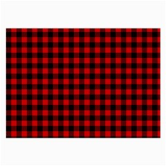 Lumberjack Plaid Fabric Pattern Red Black Large Glasses Cloth (2 Side) by EDDArt
