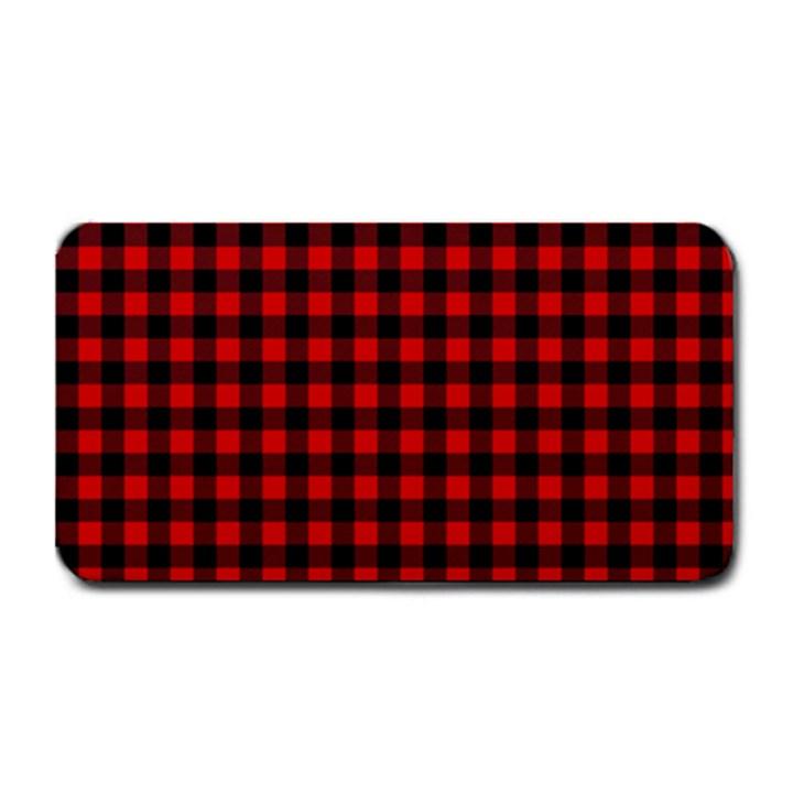 Lumberjack Plaid Fabric Pattern Red Black Medium Bar Mats