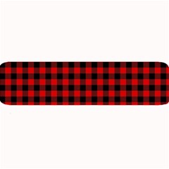 Lumberjack Plaid Fabric Pattern Red Black Large Bar Mats
