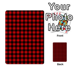Lumberjack Plaid Fabric Pattern Red Black Multi Purpose Cards (rectangle)  by EDDArt