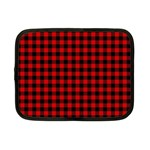 Lumberjack Plaid Fabric Pattern Red Black Netbook Case (Small)  Front