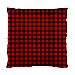 Lumberjack Plaid Fabric Pattern Red Black Standard Cushion Case (two Sides) by EDDArt