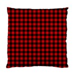Lumberjack Plaid Fabric Pattern Red Black Standard Cushion Case (Two Sides) Back