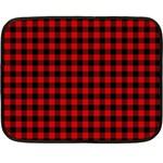 Lumberjack Plaid Fabric Pattern Red Black Fleece Blanket (Mini)