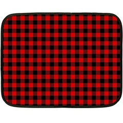 Lumberjack Plaid Fabric Pattern Red Black Double Sided Fleece Blanket (mini)  by EDDArt