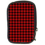 Lumberjack Plaid Fabric Pattern Red Black Compact Camera Cases Front