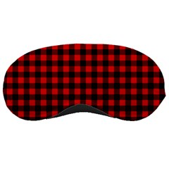 Lumberjack Plaid Fabric Pattern Red Black Sleeping Masks by EDDArt