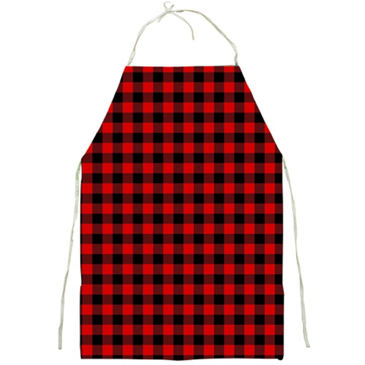 Lumberjack Plaid Fabric Pattern Red Black Full Print Aprons