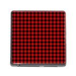 Lumberjack Plaid Fabric Pattern Red Black Memory Card Reader (Square)