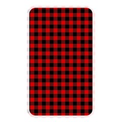 Lumberjack Plaid Fabric Pattern Red Black Memory Card Reader by EDDArt