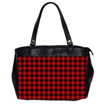 Lumberjack Plaid Fabric Pattern Red Black Office Handbags (2 Sides)  Front
