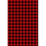 Lumberjack Plaid Fabric Pattern Red Black 5.5  x 8.5  Notebooks