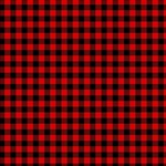 Lumberjack Plaid Fabric Pattern Red Black Magic Photo Cubes Side 5