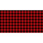 Lumberjack Plaid Fabric Pattern Red Black Magic Photo Cubes Long Side 2