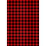 Lumberjack Plaid Fabric Pattern Red Black Circle 3D Greeting Card (7x5) Inside