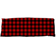 Lumberjack Plaid Fabric Pattern Red Black Body Pillow Case Dakimakura (two Sides) by EDDArt