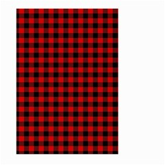 Lumberjack Plaid Fabric Pattern Red Black Large Garden Flag (two Sides) by EDDArt