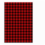 Lumberjack Plaid Fabric Pattern Red Black Large Garden Flag (Two Sides) Front
