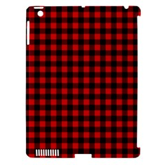Lumberjack Plaid Fabric Pattern Red Black Apple Ipad 3/4 Hardshell Case (compatible With Smart Cover)