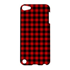 Lumberjack Plaid Fabric Pattern Red Black Apple Ipod Touch 5 Hardshell Case by EDDArt