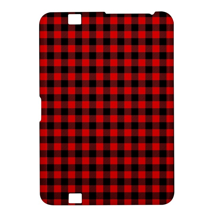 Lumberjack Plaid Fabric Pattern Red Black Kindle Fire HD 8.9