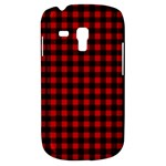 Lumberjack Plaid Fabric Pattern Red Black Samsung Galaxy S3 MINI I8190 Hardshell Case