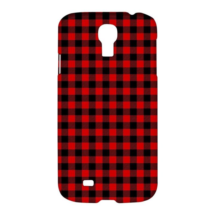 Lumberjack Plaid Fabric Pattern Red Black Samsung Galaxy S4 I9500/I9505 Hardshell Case