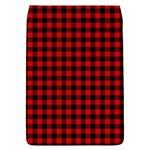 Lumberjack Plaid Fabric Pattern Red Black Flap Covers (L)  Front