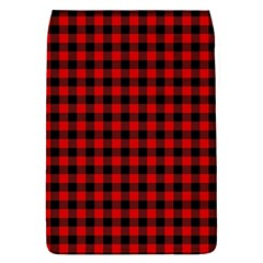 Lumberjack Plaid Fabric Pattern Red Black Flap Covers (s)  by EDDArt