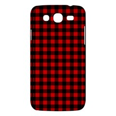 Lumberjack Plaid Fabric Pattern Red Black Samsung Galaxy Mega 5 8 I9152 Hardshell Case