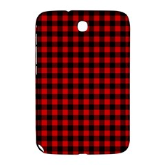 Lumberjack Plaid Fabric Pattern Red Black Samsung Galaxy Note 8 0 N5100 Hardshell Case