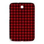 Lumberjack Plaid Fabric Pattern Red Black Samsung Galaxy Note 8.0 N5100 Hardshell Case