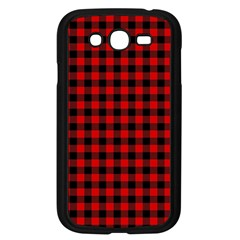 Lumberjack Plaid Fabric Pattern Red Black Samsung Galaxy Grand Duos I9082 Case (black)