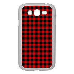 Lumberjack Plaid Fabric Pattern Red Black Samsung Galaxy Grand Duos I9082 Case (white)