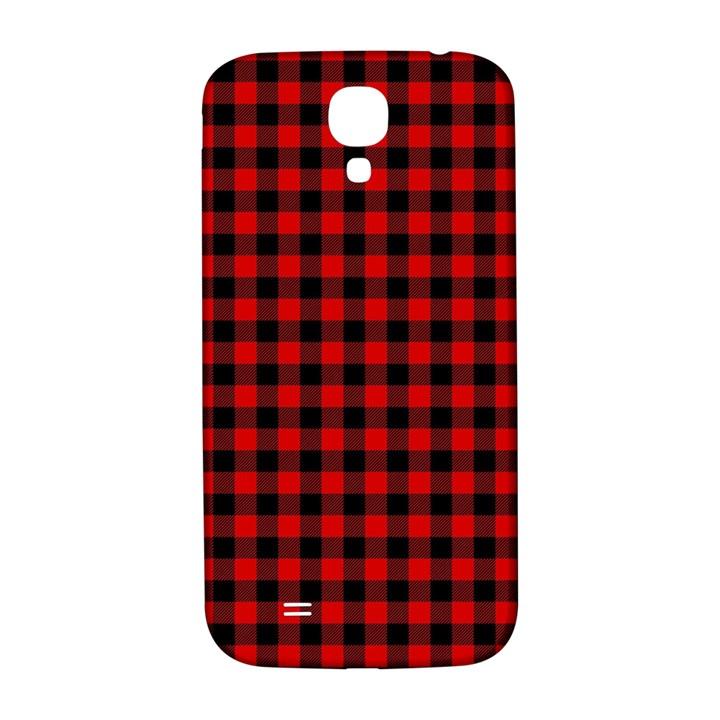 Lumberjack Plaid Fabric Pattern Red Black Samsung Galaxy S4 I9500/I9505  Hardshell Back Case
