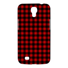 Lumberjack Plaid Fabric Pattern Red Black Samsung Galaxy Mega 6 3  I9200 Hardshell Case