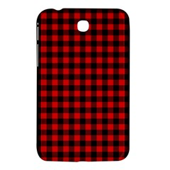 Lumberjack Plaid Fabric Pattern Red Black Samsung Galaxy Tab 3 (7 ) P3200 Hardshell Case