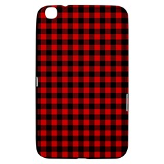 Lumberjack Plaid Fabric Pattern Red Black Samsung Galaxy Tab 3 (8 ) T3100 Hardshell Case