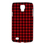 Lumberjack Plaid Fabric Pattern Red Black Galaxy S4 Active