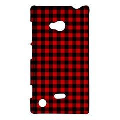 Lumberjack Plaid Fabric Pattern Red Black Nokia Lumia 720 by EDDArt