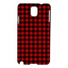 Lumberjack Plaid Fabric Pattern Red Black Samsung Galaxy Note 3 N9005 Hardshell Case by EDDArt