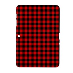Lumberjack Plaid Fabric Pattern Red Black Samsung Galaxy Tab 2 (10 1 ) P5100 Hardshell Case  by EDDArt