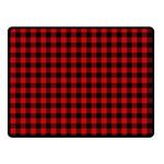 Lumberjack Plaid Fabric Pattern Red Black Double Sided Fleece Blanket (Small)  45 x34 Blanket Front